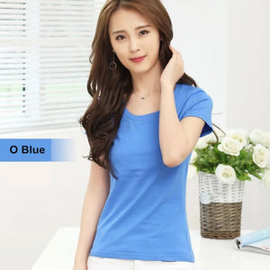 MRMT Brand New Women Pure Color Short Sleeve Top