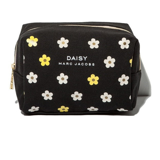 Ausuky hight quality Cavans Cosmetic Bag Small chrysanthemum pattern makeup bag travel organizer maleta de maquiagem