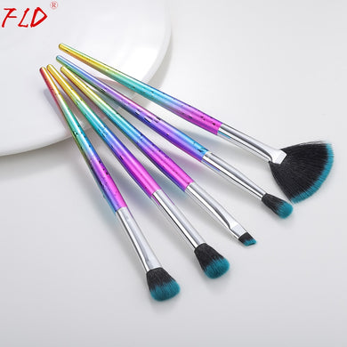 FLD 5Pcs Colorful Makeup Brush Sets Eye Shadow Eyeliner Brushes