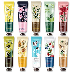 10 Pack Plant Fragrance Hand Cream, Moisturizing Hand Care Cream Travel Gift Set With Plant Fragrance Honey Milk For Hand Care