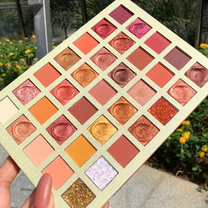 Nude Shimmer Matte EyeShadow Palette 35 Color Glitter Metallic Pressed Pigmented Eyeshadow Pallete Makeup Palette Cosmetic