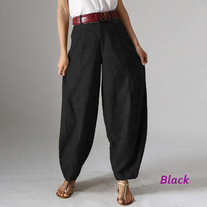 Casual Baggy Harem Pants Women's Autumn Trousers ZANZEA 2019 Vintage Front Zipper Pantalon Plus Size Cropped Pant Woman Palazzo