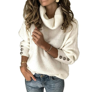 IMCUTE Women Long Sleeve Knitted Sweater