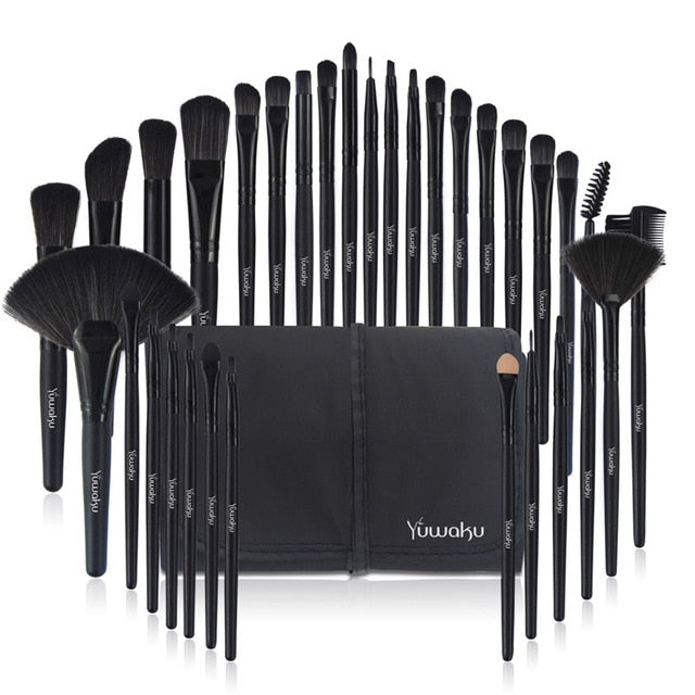 KAINUOA 32Pcs Makeup brushes Sets With Bag Eye Shadow Eyebrow Highlighter