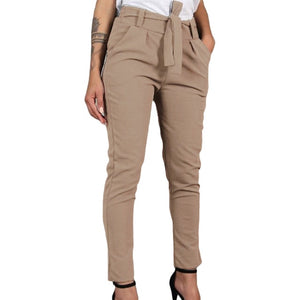 GAOKE Women Basic Knitted High Waist Slim Pants