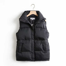 Load image into Gallery viewer, HWLZLTZHT Women Cotton Padded Sleeveless Coat