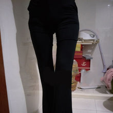 Load image into Gallery viewer, GAOKE Women Loose Elegant High Waist Flare Trousers