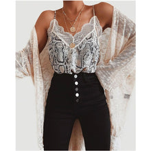 Load image into Gallery viewer, Summer Women Satin Silk Lace Tank Tops Vest Blouse Female Casual Crop Camisole Top Sexy Lace Solid Backless Vest