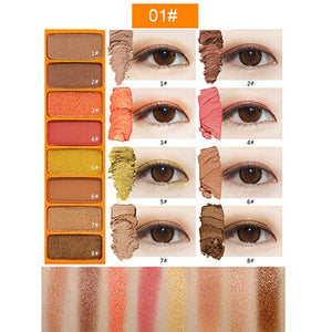 NOVO Eye Color Mini Studio 8 Colors Eyeshadow Palette