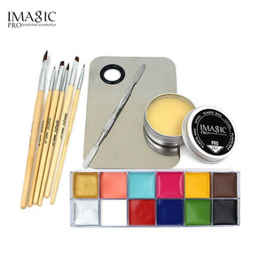 IMAGIC Professional  Cosmetics 1 X12 Colors Body Painting And Skin Wax And Make Up Remover Set