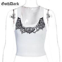 Load image into Gallery viewer, GOTH DARK Casual Animal Print Crop Top