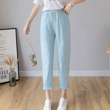 Load image into Gallery viewer, LUCKBN Women Casual Ankle Length Trousers