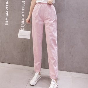 LUCKBN Women Casual Ankle Length Trousers