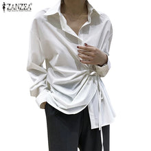 Load image into Gallery viewer, ZANZEA Long Sleeve Lace Up Shirt