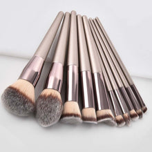 Load image into Gallery viewer, MUSICFLOWER Luxury Champagne Makeup Brushes Set