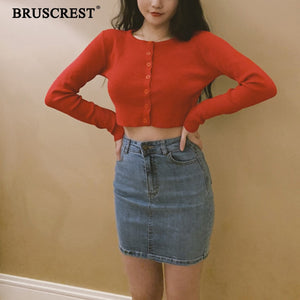 BRUSCREST Women Knitted Cardigan