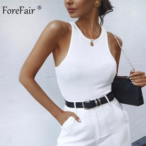 FOREFAIR Women Ribbed Tank Top