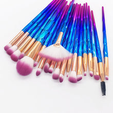 Load image into Gallery viewer, MENGSHANG 20pcs Diamond Makeup Brush Set