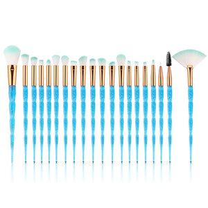 MENGSHANG 20pcs Diamond Makeup Brush Set