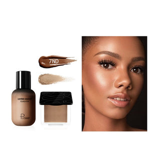 Pudaier Face Foundation Makeup Set Liquid Foundation Cream Matte Foundation Base Face ALL Concealer Cosmetic Professional base