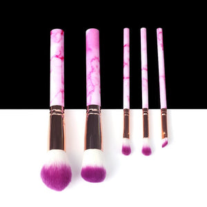 BEAUTIES 5/10/15pcs Marble Makeup Brushes