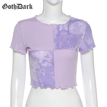 Load image into Gallery viewer, GOTH DARK Women Tie Dye With Sequin Patchwork Crop Top