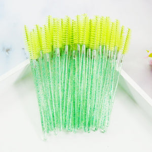 QSTY 50Pcs Eyelash Disposable Mascara Wands