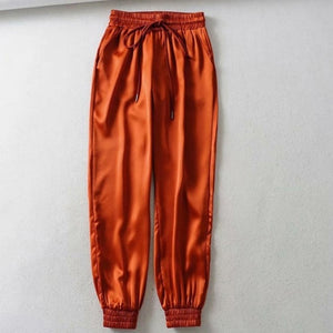 GAOKE Women Loose Elegant High Waist Flare Trousers