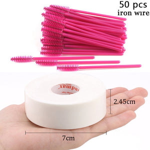 HMQ BEAUTY Disposable Silicone Gel Eyelash Brush Comb Mascara Wands