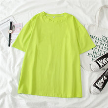 Load image into Gallery viewer, GCAROL Women O-neck Upper Oversized T-shirt