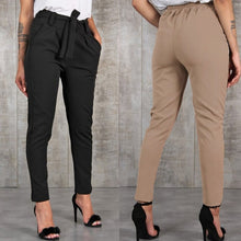 Load image into Gallery viewer, GAOKE Women Basic Knitted High Waist Slim Pants