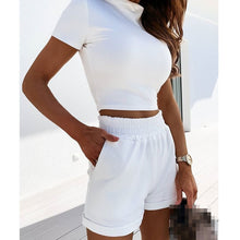 Load image into Gallery viewer, VS&LLWQ Women 2 Piece Set Top And Shorts