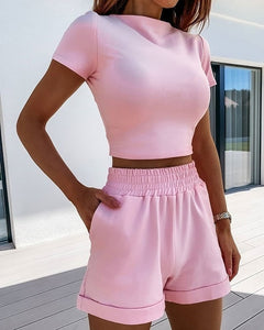 VS&LLWQ Women 2 Piece Set Top And Shorts
