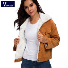 Load image into Gallery viewer, VANGULL Women Corduroy Vintage Padded Jacket