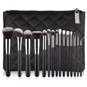 RANCAI 10/15pcs Complete Kit Powder Eyebrows Eyeshadow Brushes