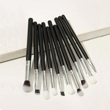 Load image into Gallery viewer, RANCAI 10/15pcs Complete Kit Powder Eyebrows Eyeshadow Brushes