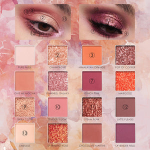 FOCALLURE Brand New 16 Colors Eye Shadow Palette- SUNRISE