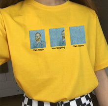 Load image into Gallery viewer, KUAKUAYU HJN Van Gogh Van Goghing Van Gone Meme Funny Printed T-shirt