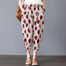 Load image into Gallery viewer, ZANZEA Vintage Linen Floral Cropped Pants