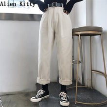 Load image into Gallery viewer, ALIEN KITTY Loose High Waist Thin Pants