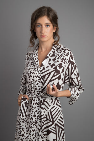 TANGRAM buttoned dress