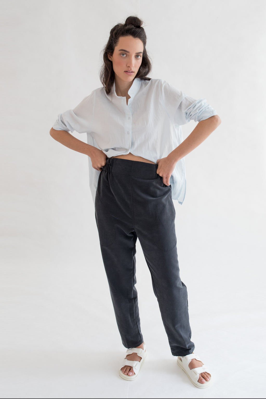 MUTED BLACK High Waist Pants