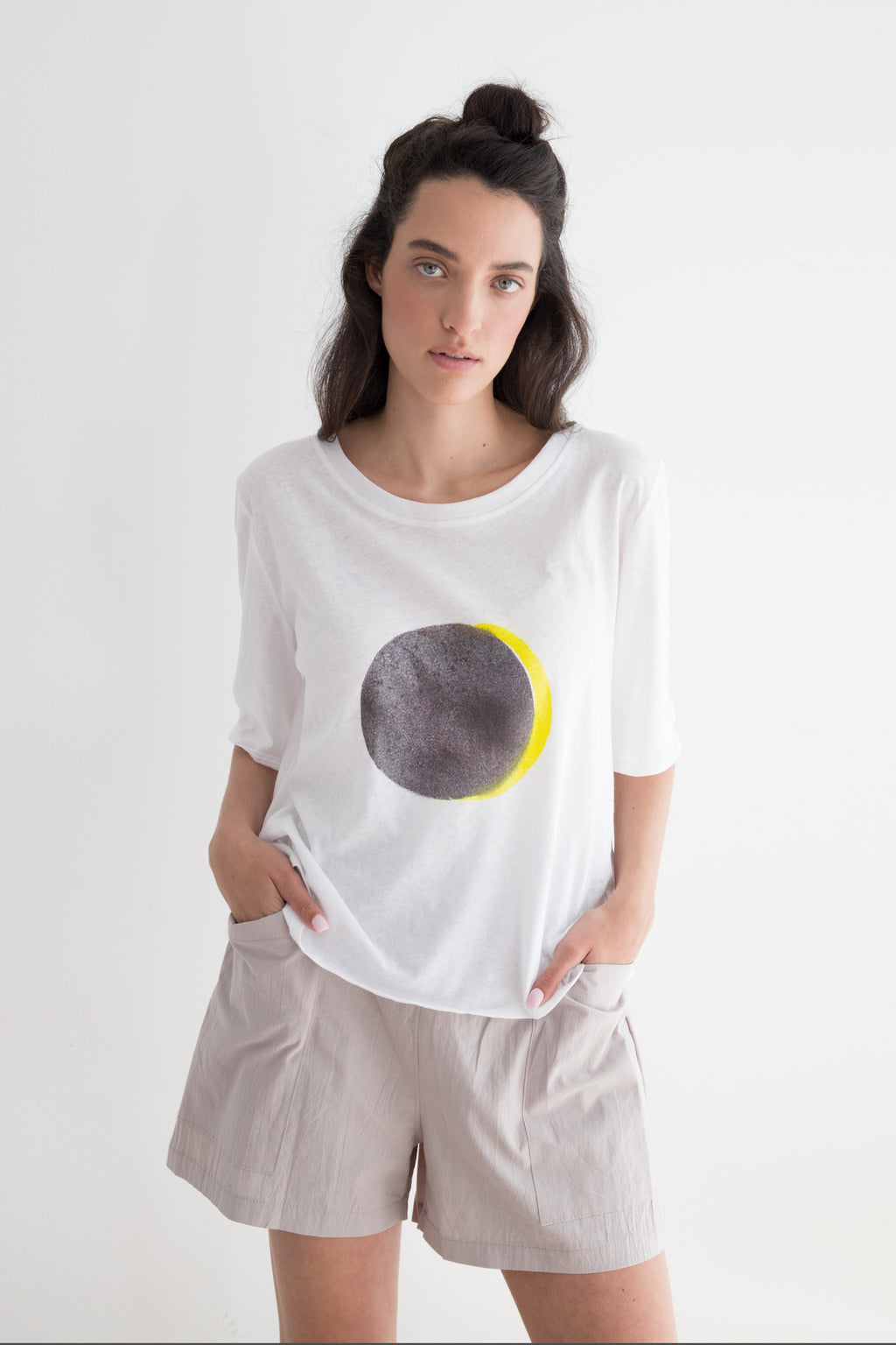 ECLIPSE hand printed T shirt