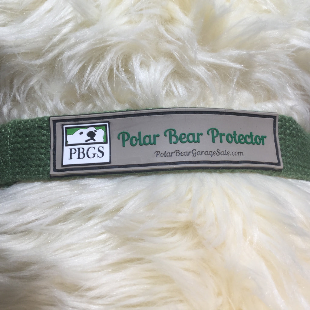 Polar Bear Protector green hemp dog collar