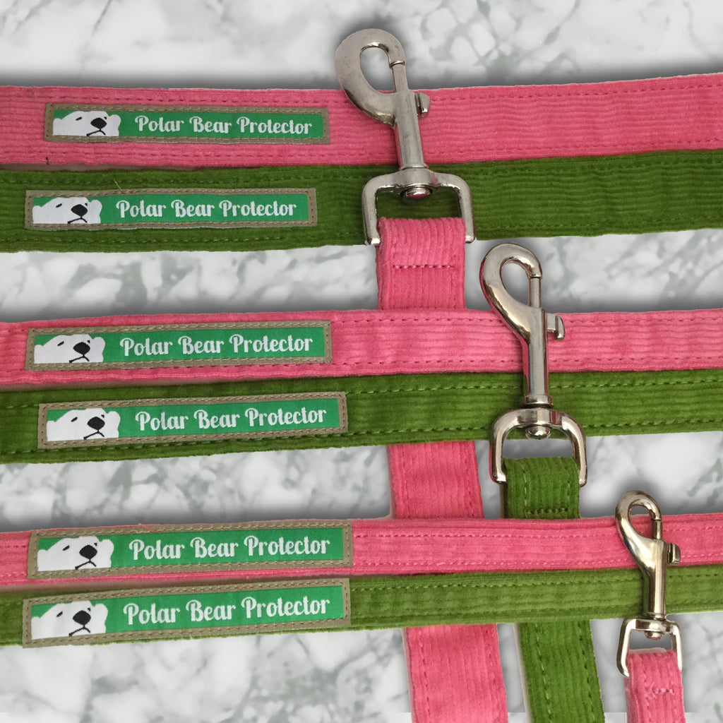 New Corduroy Polar Bear Protector Leashes in Hemp/Organic Cotton