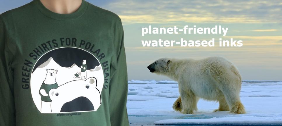 Polar Bear Protector collars and leashes. Dude up your dog.  Honor his heroic inner beast.  Help him help bears.