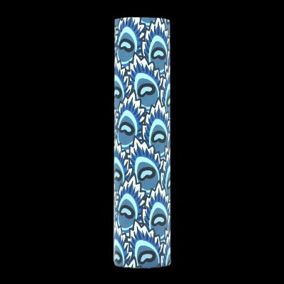 Designer Candle Sleeve - Blue Peacock