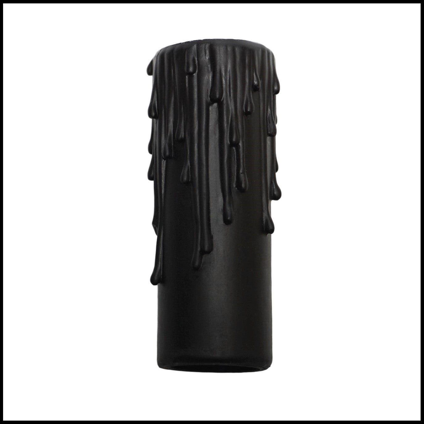 Matte Black Resin Candle Cover - Candelabra