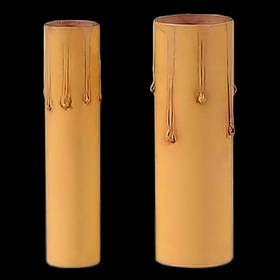 Cardboard Candle Cover - Medium Base - Gold