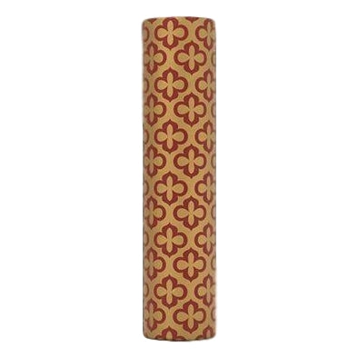 Designer Candle Cover - Red Gold Clover